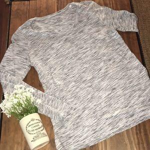 Sonoma long sleeve tee // light and dark grays